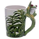 Close Up Tasse mit 3D Frosch-Henkel - weiß - grün Kaffeebecher aus Keramik