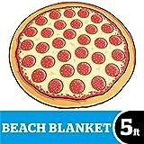 BigMouth Inc. Strandtuch in Form Einer Pizza, Polyester, Mehrfarbig, 152x 152x 1cm