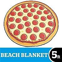 Rendete più allegra la prossima estate al mare con questo coloratissimo telo a forma di pizza tonda Il telo ha un diametro di 1,5 m ed è così spazioso che renderà ancora più piacevoli i vostri bagni di sole. Inoltre, è ultramorbido e piacevol...