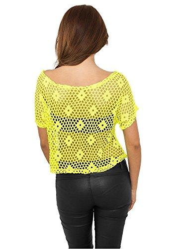 Urban Classics Ladies Short Mesh Neon Yellow neonyellow