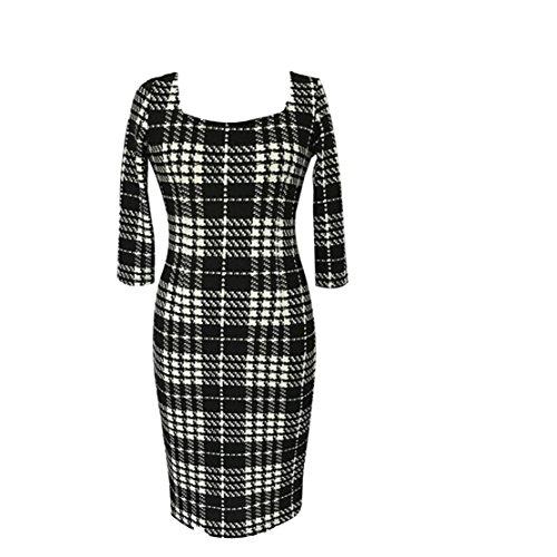 Good dress Houndstooth dirndl,Gitter,XXXXL (Baumwoll-mischungen Gitter-muster,)