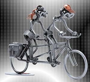 """Boystoys hK design figurine en métal à vélo """"sport"""" tandem bonhomme & loisirs à offrir"""