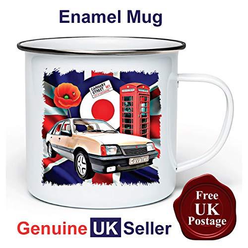 Vauxhall Cavalier MK2 11 oz Enamel Camping Mug