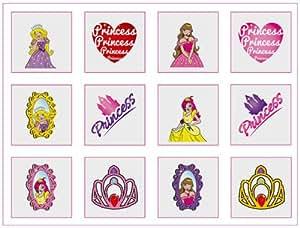 Princess Tattoos - 12 pack
