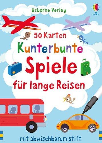 Kinder Reise-spiele, (50 Karten: Kunterbunte Spiele für lange Reisen: mit abwischbarem Stift)