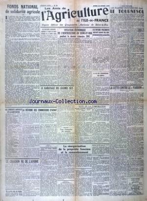 AMIS DE L'AGRICULTURE DE L'ILE DE FRANCE (LES) [No 37] du 28/02/1942