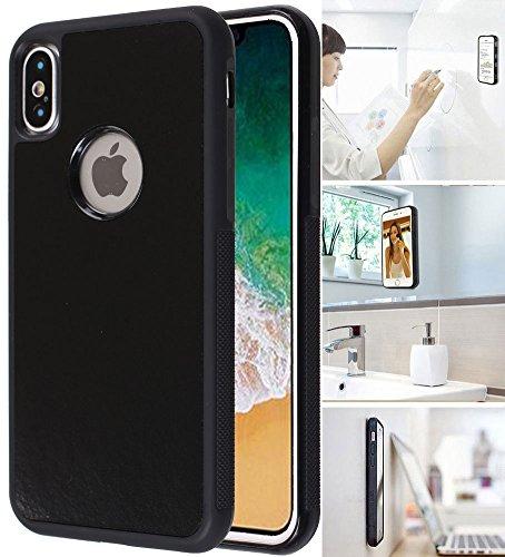 7991f40eae26 [Monca] anti Gravity cellulare caso [nero] magico Nano Technology stick a  vetro, lavagne bianche, mattonelle, superfici lisce iPhone X