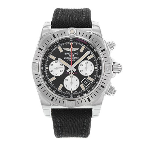 BREITLING MEN'S CHRONOMAT 44 44MM CANVAS BAND AUTOMATIC WATCH AB01154G-BD13MS