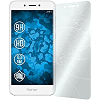 2 x Glas-Folie klar für Huawei Honor 6a PhoneNatic Panzerglas für Honor 6a