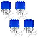 4x HQ DiseqC Schalter Switch 2/1 mit Wetterschutzgehäuse HB-DIGITAL 2x SAT LNB 1 x Teilnehmer/Receiver für Full HDTV 3D 4K UHD