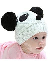 33f8bec6730c ESHOO Bébé Enfant Bonnet Tricot Chapeau Mignon Panda Chaude Chapeau Hiver