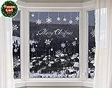 Yuson Girl Flocons de Neige Noël Autocollants Fenetre Amovibles Décoration Stickers Muraux Pour Fenêtres Home Decor