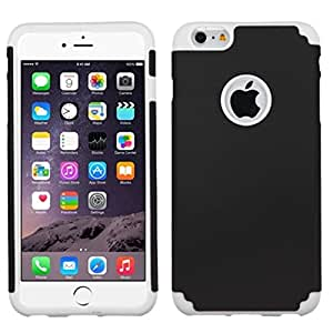 MyBat Fusion Protector Rubberized Cover for iPhone 6 Plus - Retail Packaging - Black/White