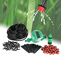 Mainstayae 25m Micro Drip Irrigation System with Auto Timer Self Plant Watering Garden Hose