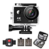 FONXA Action Camera 4K 16MP Wifi Sport Cam Underwater 30M Diving Camcorder with...