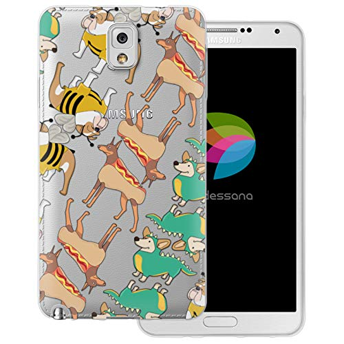transparente Schutzhülle Handy Case Cover Tasche für Samsung Galaxy Note 3 Hunde im Kostüm ()