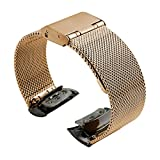 Bracelet de montre 20mm, Happytop Bracelet en acier inoxydable Bracelet de montre...