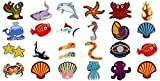 sortiert 27pcs Marine Creatures Iron On Patches Shark Wal Delfin Muscheln Shell Muscheln Krabben Seepferdchen Seestern Manta Ray Octopus bestickt Patches Applikationen Dekorative Reparatur Patches DIY Nähen auf Motiv