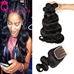 """Size:12 14 16 with 10 1)Hair Material:100% unprocessed brazilian virgin human hair 2)Hair Colour: Unprocessed Natural Color 3)Hair Grade:AAAAAAA 4)Length:8""""-28""""Provide Any Mix Length According Request . 5)Texture:body weave hair weft+3part lace closu..."""