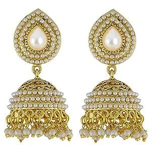 YouBella Jewellery Gold Plated Jhumki Earrings for Women Traditional Earrings for Girls