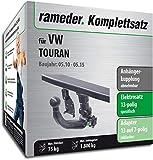 Rameder Komplettsatz, Anhängerkupplung abnehmbar + 13pol Elektrik für VW TOURAN (143394-10449-1)