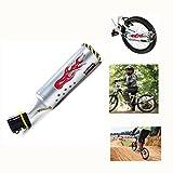 yosposs Fahrrad Auspuff Sound System mit 3verstellbaren Turbo Motorrad Sound, Kinder Motor Sound Bike Motor Zubehör