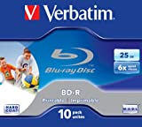 Verbatim 43713 25 GB 6X BD-R Inkjet JC (Pack of 10)
