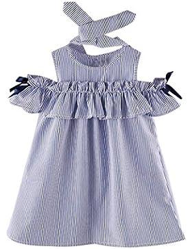 Vestidos Niña, K-youth® Verano Vestidos para niña y Diademas, Barata Vestidos a rayas Ropa Niñas Vestido Infantil...