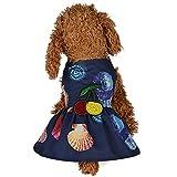 Hawkimin hundepullover Fleece Sommer Conch Strandkleid Hundekleid Kirschdruck Prinzessin Kleid für Hund