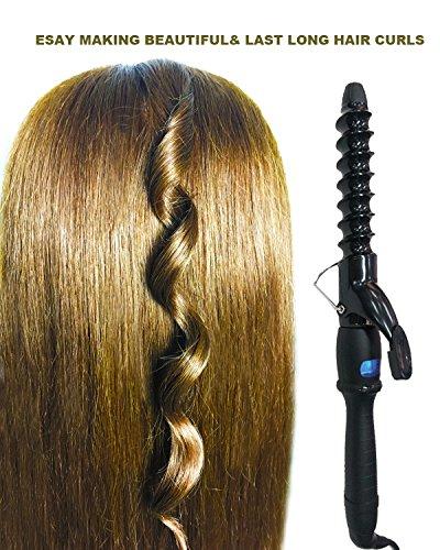 YUNAI Pro LCD Display Spiral-Lockenstab Spiral Lockenwickler Spiral Lockeneisen Keramisches gewundenes Haar-Styling-Werkzeug 26mm