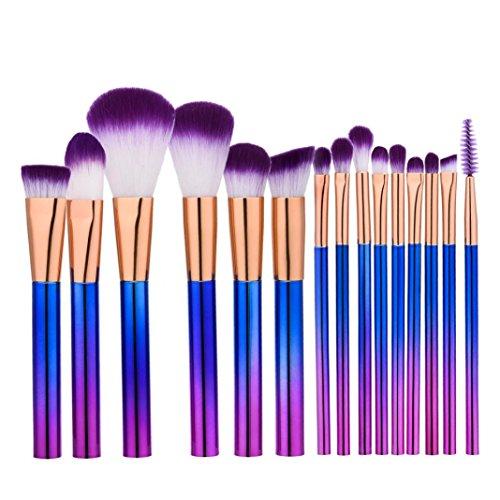 Make-Up Pinsel-Sets,Jaminy Neue 15St Make Up Foundation Augenbraue Eyeliner Erröten Kosmetische Concealer Lidschattenpinsel und Schminkpinsel (Ziel Schaum Womens)
