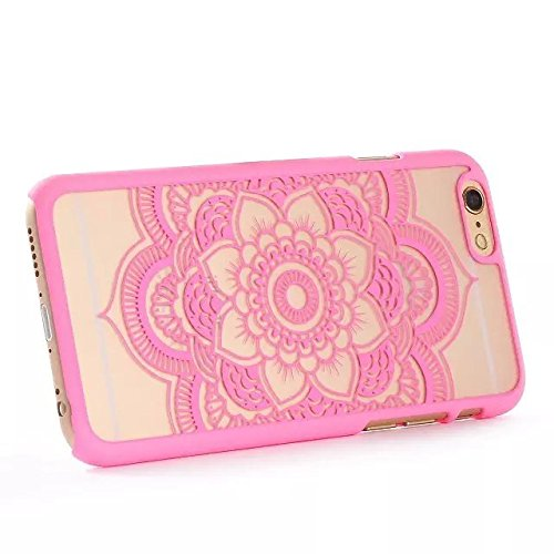 iCHOOSE Paisley Henna Coque pour Apple iPhone 6 Protective Couverture / Mandala Dream Catcher Design Rose Clair