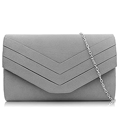 Milisente Women Clutch Bag Suede Envelope Clutch Classic Evening Bag
