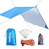 Unigear Hängematte Regenschutz Zeltplanen Tent Tarp, tragbare leichte wasserdichte Camping Shelter Sonnenschutz für Camping Outdoor Travel (Blau, 220*240cm)