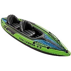 Intex Challenger K2 Kayak Gonfiabile per due Persone con Remi di Alluminio
