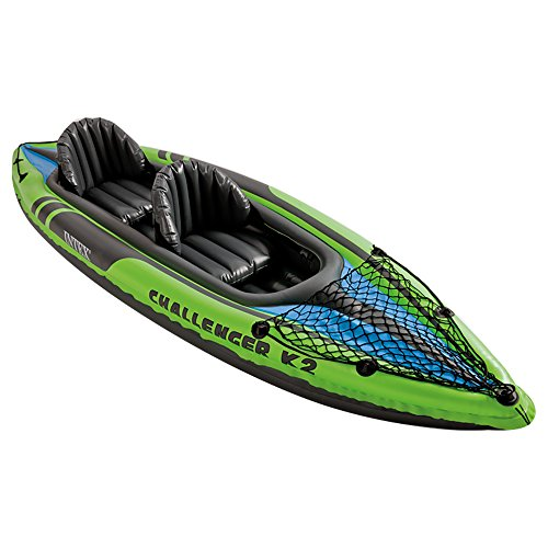 51zKlAQy3JL. SS500  - Intex Challenger Kayak Inflatable Set with Aluminum Oars