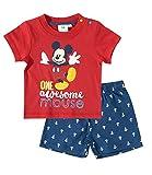 Disney Mickey Babies Conjunto camiseta y pantalón corto - Rojo - 24M
