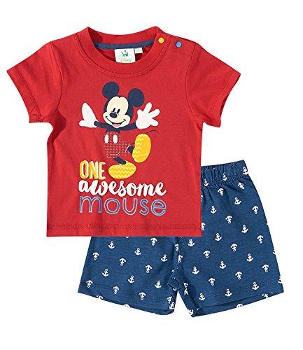 Disney Mickey Babies Conjunto camiseta y pantalón corto - Rojo