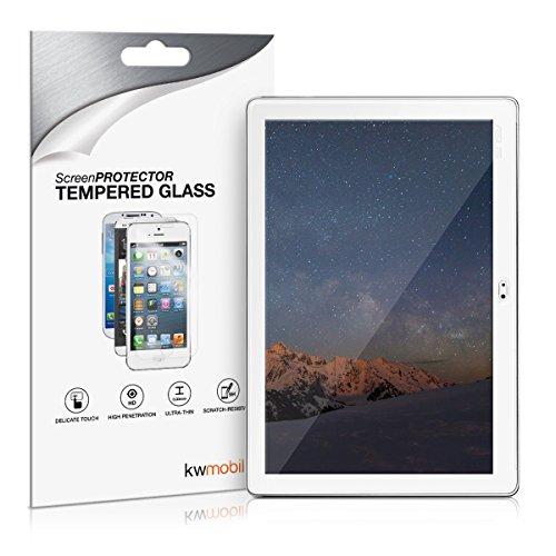 kwmobile Glas Bildschirmschutzfolie für Asus ZenPad 10 (Z300) - Tablet Schutzglas Folie Schutzfolie Bildschirmschutz Glasfolie in kristallklar