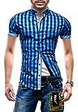 BOLF Hombres Camisa con mangas cortas Camisa del ocio Slim ...