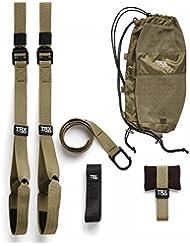 TRX® Tactical original SST Sling Suspension Trainer (2xDVD, 12-wöchiges Training, 4x Übungsposter,Rucksack,Tür-Anker Befestigung) +TRX® Halterung + Handschue gratis