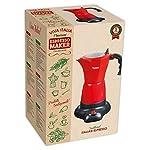 Bestron-Moka-elettrica-con-base-Viva-Italia-Per-6-tazzine-da-caff-180-ml-480-Watt-Alluminio-Rosso