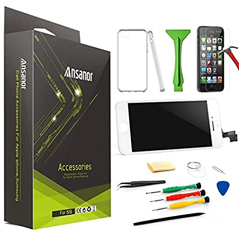Ansanor® Blanc Ecran LCD pour iPhone 6 PLUS Digitizer-Professionnel Kit de Remplacement Réparation - Film Protection en Verre trempé écran Protecteur pour iPhone 6 PLUS