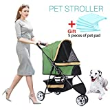 Best Pet 3 Wheel Strollers - IREENUO Pet Travel Stroller Three Wheels Cat Dog Review