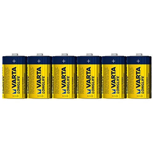 Varta Longlife Batterie D Mono Alkaline Batterien LR20-6er Pack