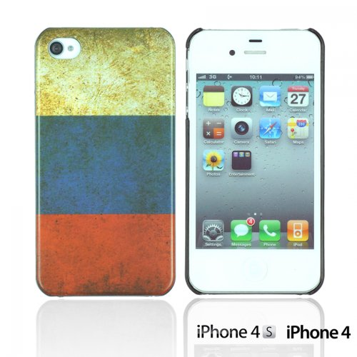 OnlineBestDigital - Vintage National Flag Hard Back Case / Housse pour Apple iPhone 4S / Apple iPhone 4 - Italie Russie