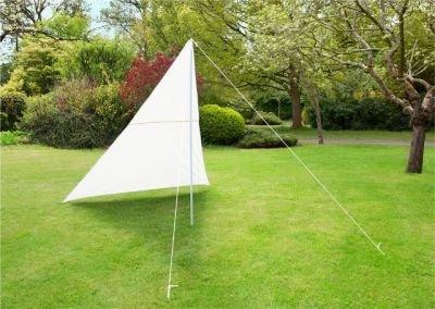 fallarmmarkise 3m Primrose 3m x 3m x 2,5m Dreieck Elfenbein Sonnensegel und Windschutz