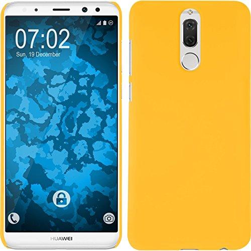 PhoneNatic Case kompatibel mit Huawei Mate 10 Lite - Hülle gelb gummiert Hard-case Cover Gelb Hard Case