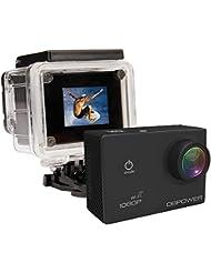 DBPOWER HD 1080P Action Kamera wasserdicht mit 2 verbesserten Batterien und Kostenlosen Zubehor Kits (WiFi Schwarz)