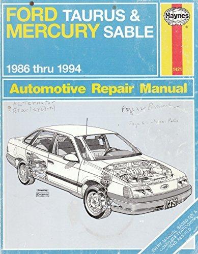 ford-taurus-mercury-sable-1986-thru-1994-automotive-repair-manual-haynes-auto-remair-manual-series-b